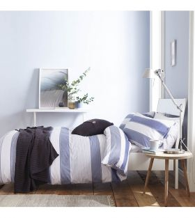Catherine Lansfield Newquay Stripe Easy Care Duvet Set